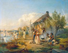 Valentiny János - Halászcsalád