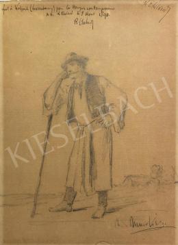 Munkácsy Mihály - Botra támaszkodó férfi