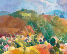 Patkó, Károly - Cserépváralja Landscape (Houses in the Valley), c. 1937
