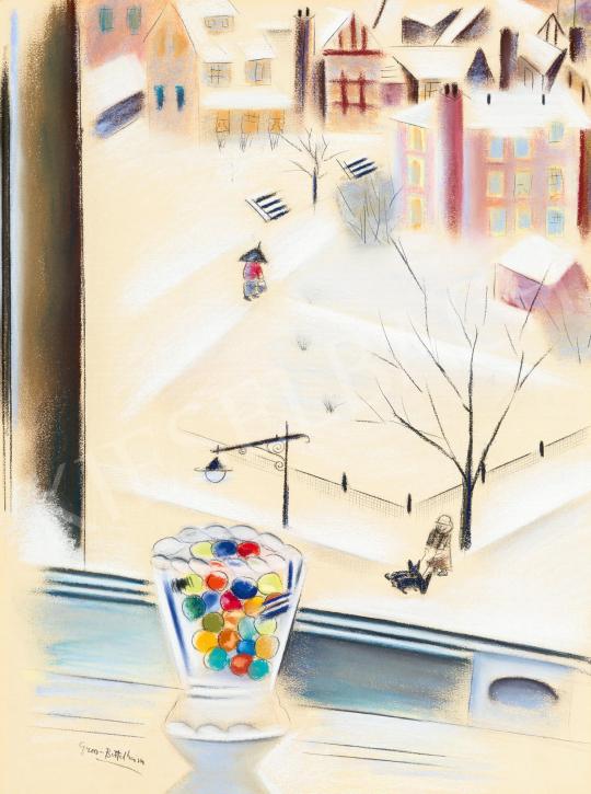 Gross-Bettelheim Jolán - Színes üveggolyók a New York-i ablakban | 59. Őszi Aukció aukció / 23 tétel