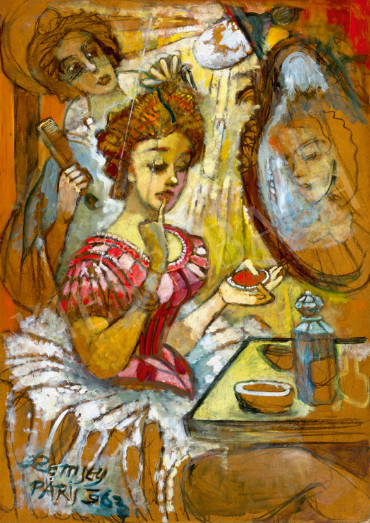 Remsey, Jenő György - In the Dressing Room of Moulin Rouge | 59th Autumn Auction auction / 41 Item