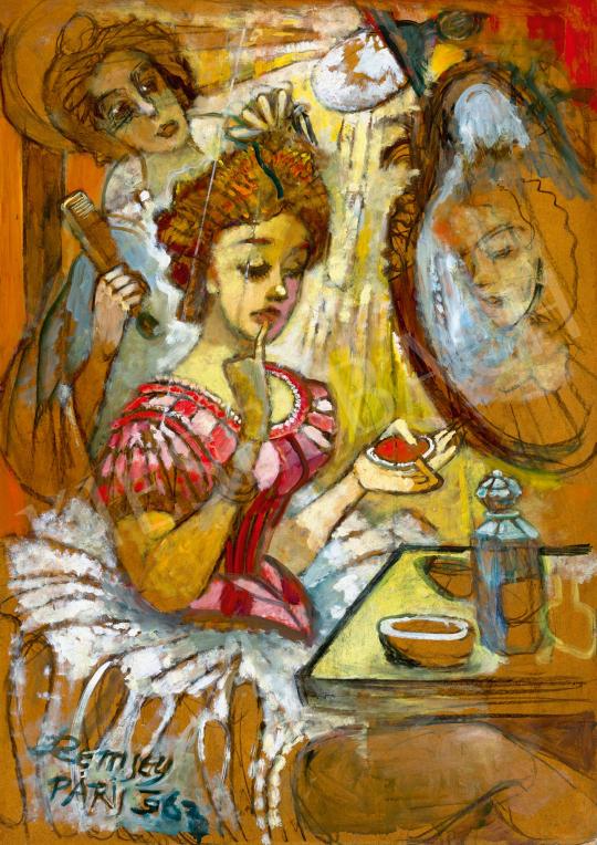 Remsey Jenő György - A párizsi Moulin Rouge öltözőjében | 59. Őszi Aukció aukció / 41 tétel