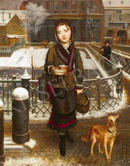Reiter, Johann Baptist - Visszatérés a bevásárlásból (Lexi, a művész lánya), 1870-es évek közepe