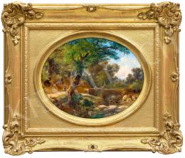 Ifj. Markó Károly - Itáliai táj patakparttal, 1870