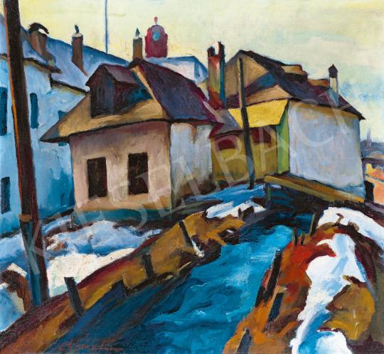 Nagybányai festő, 1930 körül - Malomárok Nagybányán | 59. Őszi Aukció aukció / 30 tétel