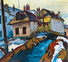 Painter from Nagybánya, c. 1930 - Mill-Stream in Nagybánya