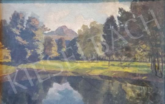 Ismeretlen magyar festő - Zöldellő táj festménye