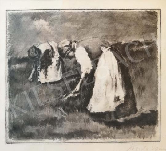 Koszta, József - Working Women painting
