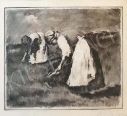 Koszta József - Asszonyok munka közben