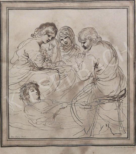 Eladó  Ismeretlen alkotó James Baglire jelzéssel - Fohászkodók  festménye