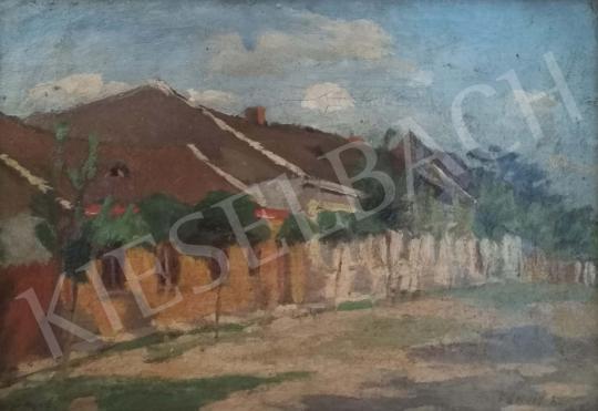 Eladó Fényes Adolf - Utcarészlet festménye