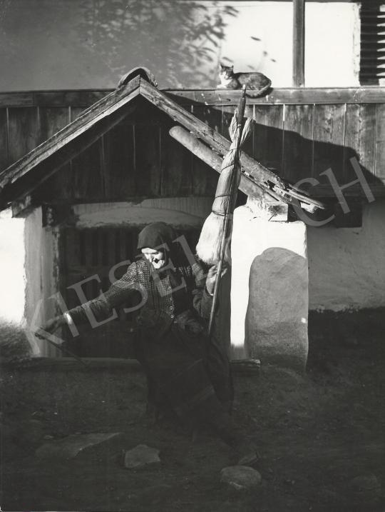 Eladó  Balogh Rudolf - Öregasszony guzsallyal 1935/1975 k. festménye