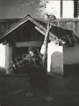 Balogh Rudolf - Öregasszony guzsallyal 1935/1975 k.