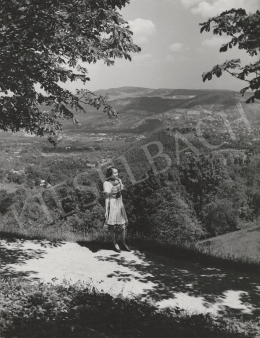 Unknown artist - Girl in the landscape (1953)