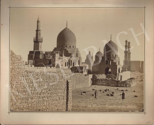 Eladó  Félix Adrien Bonfils  - A kalifa síremléke, Kairó festménye