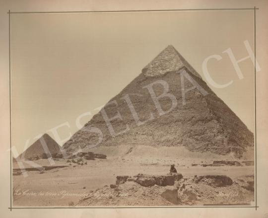 Eladó  Félix Adrien Bonfils  - A gizai piramisok  festménye