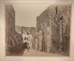 Félix Adrien Bonfils  - A második stáció (Jeruzsálem) (1885)