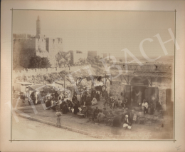 Félix Adrien Bonfils  - Jeruzsálemi piac a jaffai kapunál
