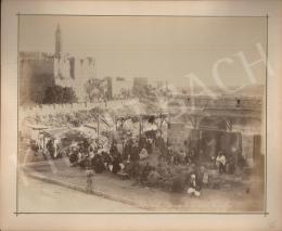 Félix Adrien Bonfils  - Jerusalem Market at Jaffa Gate