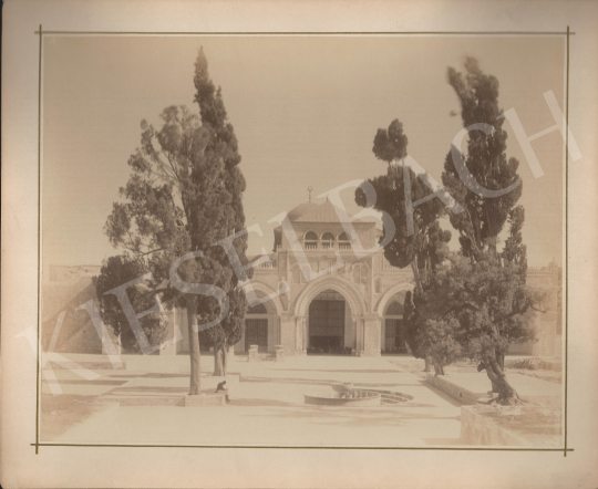 For sale  Félix Adrien Bonfils  - Churchyard with trees (Islamic denomination) 's painting