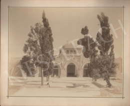 Félix Adrien Bonfils  - Churchyard with trees (Islamic denomination)