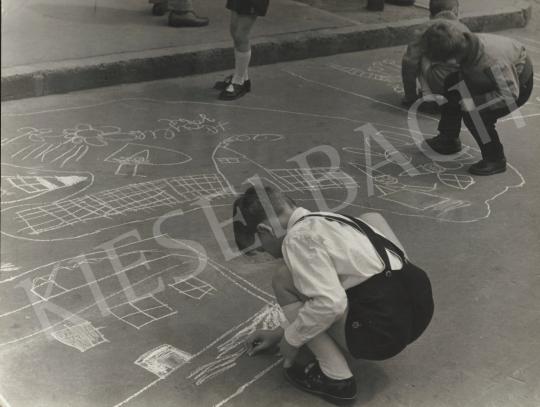 Eladó  Krisch Béla - Gyermeknapon, 1959 festménye