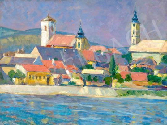 For sale Rózsaffy, Dezső - Town by the Danube 's painting