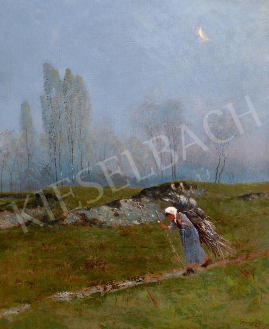 Eladó K. Spányi Béla - Hazafelé festménye