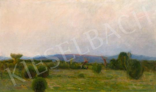 Hollósy, Simon - Landsape in Técső painting