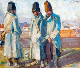 Vaszary János - Kozák katonák, 1915 körül
