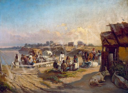 Eladó Valentiny János - Folyóparton festménye