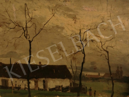 Unknown Hungarian painter, about 1920 - Autumn Landscape with Trees