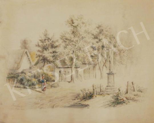 Eladó  Szemlér Mihály - Városi életkép, 1862 festménye