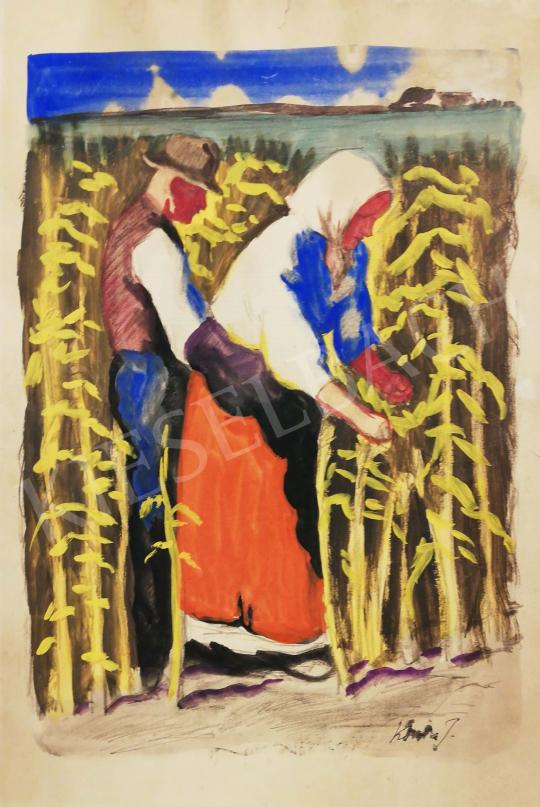 Eladó  Koszta József - Hazatérés a kukoricaföldekről festménye