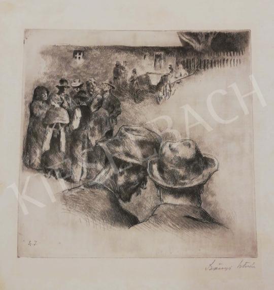 Eladó  Szőnyi István - Falusi jelenet festménye