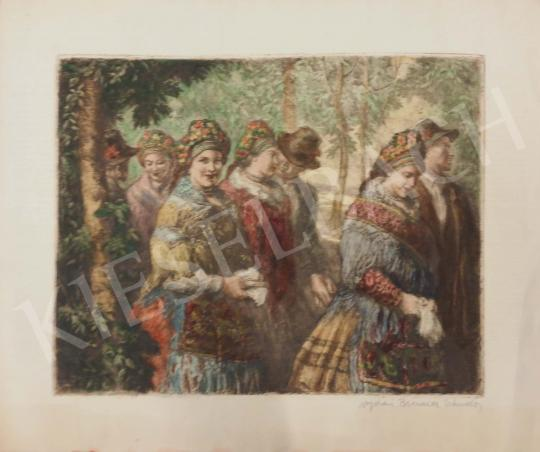 For sale  Brenner, Nándor (Viday) - Women in Sokác Costume 's painting