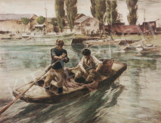 For sale Udvary, Pál - Lake Balaton with Sailing Boats (Siófok) 's painting