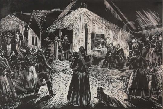 Eladó Gáborjáni Szabó Kálmán - Kigyulladt a villany festménye