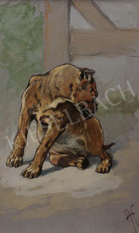 Eladó Heyer Artur - Házörző festménye