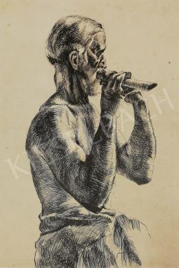 Ismeretlen magyar festő, 1920 körül - Fuvolás