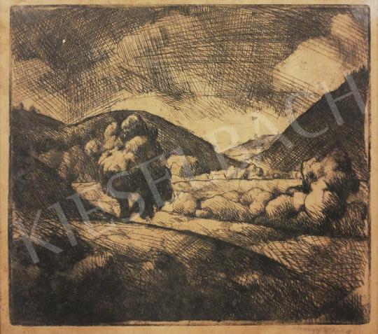 Nagy Imre - Erdélyi látkép festménye