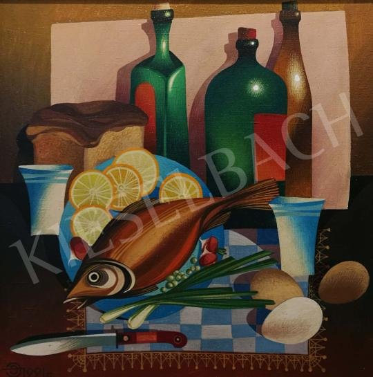 For sale  Efendiev, Eldar - Table-Still Life with Fish 's painting