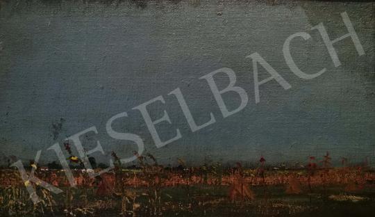 Eladó  Barcsay Jenő - Alföldi látkép (Végtelen horizont) festménye