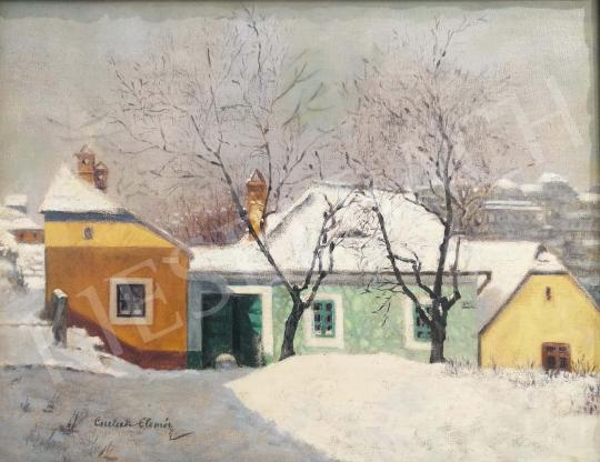For sale Csulak, Elemér - View of Tabán with the Buda Castle 's painting