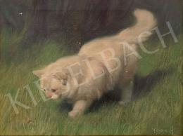 Heyer, Artur, - White Kitty with Ladybug
