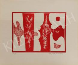 Marosán Gyula - Kompozíció pirosban, 1966