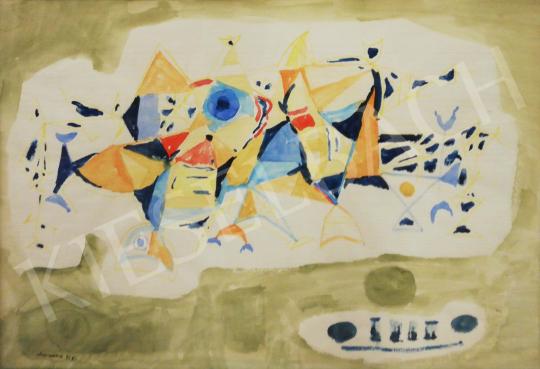 Eladó Marosán Gyula - Absztrakt kompozíció, 1958 festménye