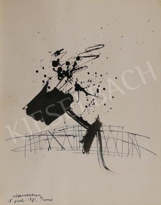 Eladó Marosán Gyula - Kalligráfia VI., 1961 festménye