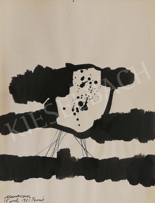 Eladó Marosán Gyula - Kalligráfia VII., 1961 festménye