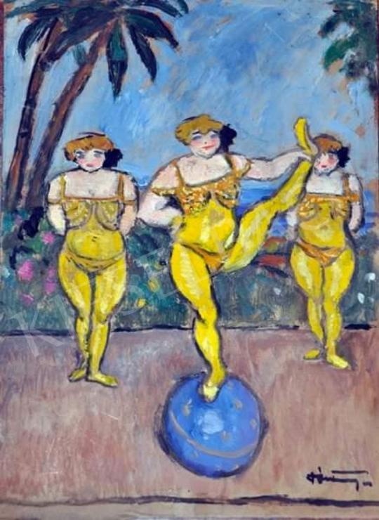 Eladó  Pólya Tibor - Cirkuszhercegnők, 1910-es évek eleje festménye